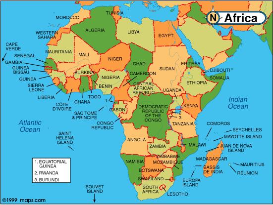 Asia. América. Europa. África