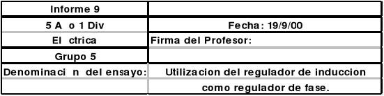 Utilización del regulador de inducción como regulador de fase