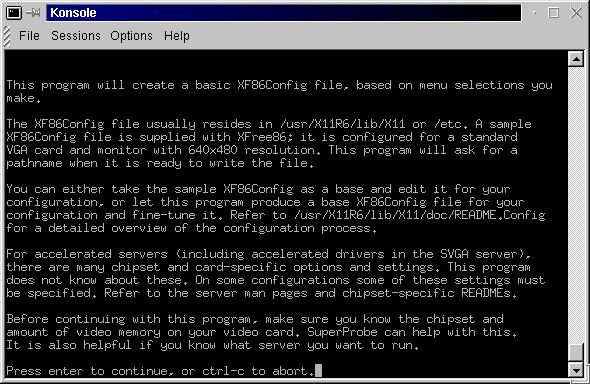 Configuración de las Xfree86 y xf86config