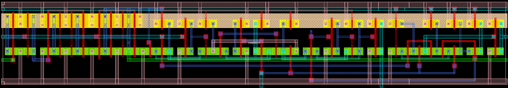 'Diseño de Multiplicador 4x8 en {VLSI}'