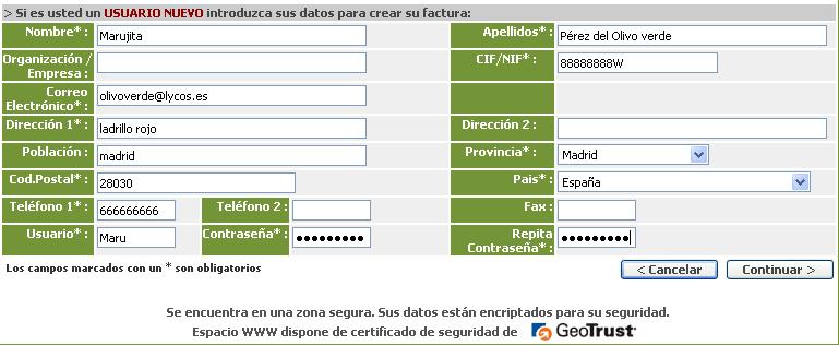 'Los dominios de nombres en internet'