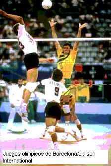 'Saque en voleibol'