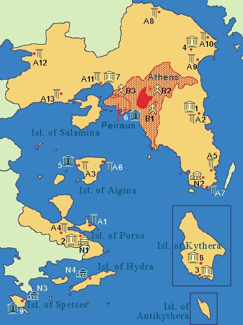Comparación de los templos de El Partenón de Atenas y El Afaya de Egina