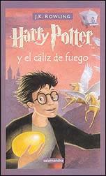 'Harry Potter y el cáliz de fuego; J K Rowling'